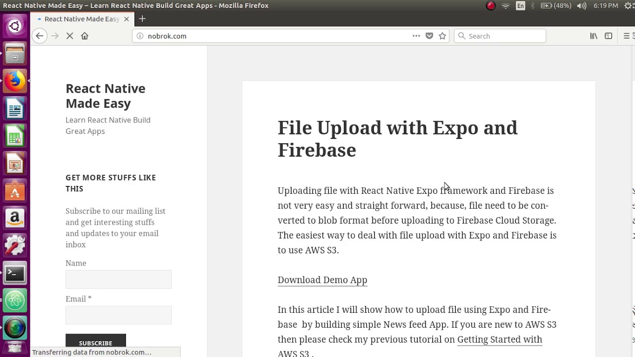 File Upload with Expo and Firebase