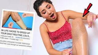 Testing 36 LIFE HACKS TO SPEED UP YOUR DAILY ROUTINE by 5-Minute Crafts