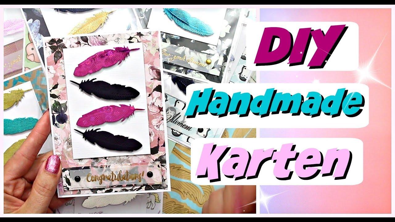 Handmade Karten Basteln Mit Papier Diy Grußkarten Selber Basteln 9999 Dinge