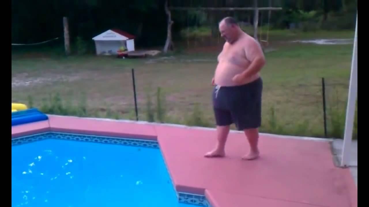 Fat girl jumping