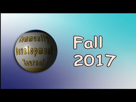 Community Development Journal Fall 2017