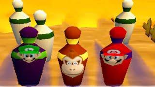 Mario Party 2 All Funny Minigames - Mario vs Peach vs Luigi vs Donkey Kong (Master CPU)