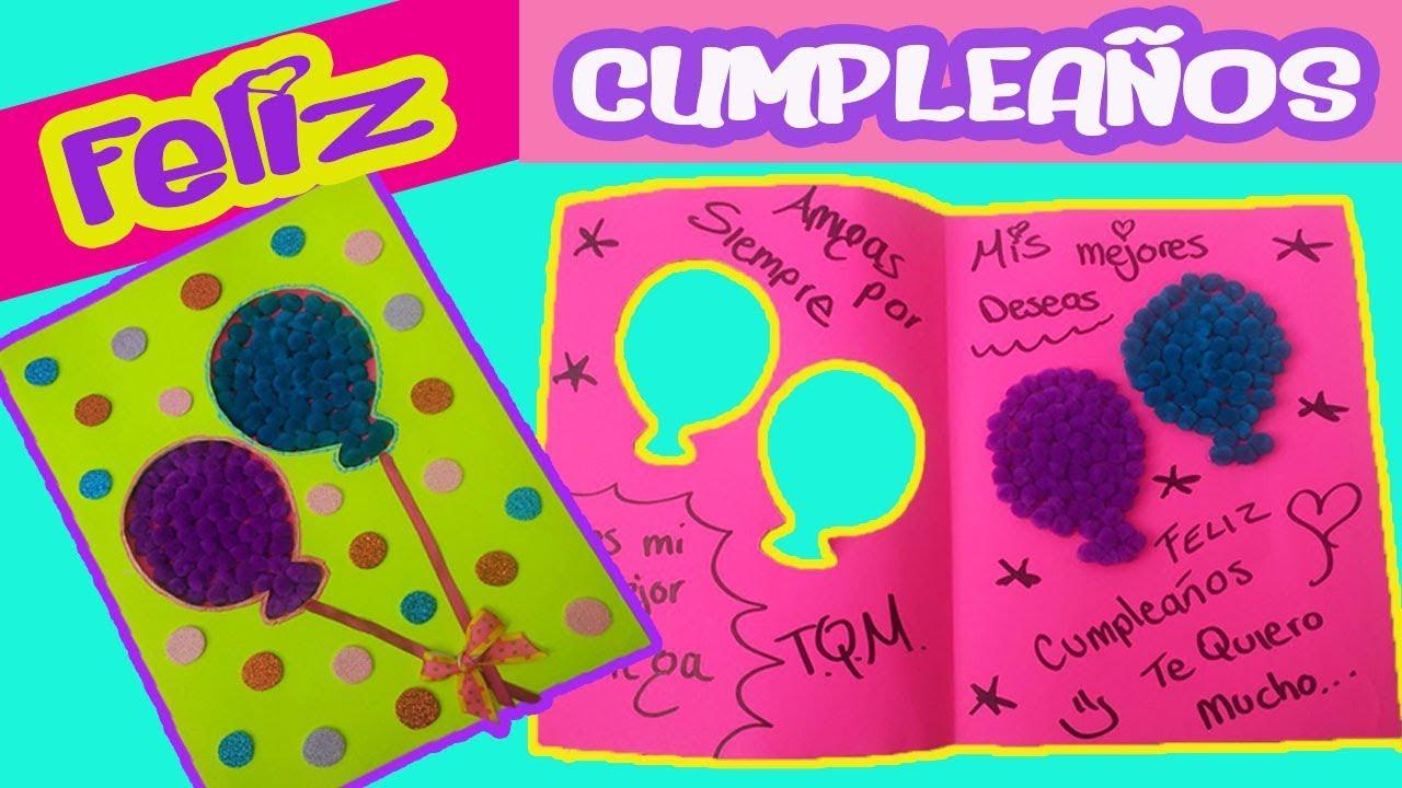Tarjeta de cumpleaños Carta para tu amiga Carta de san valentín YouTube