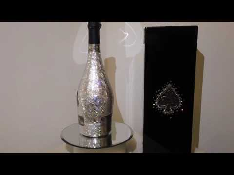 Swarovski Crystallized Armand de brignac brut Ace of Spades Bottle