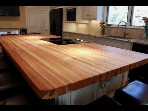 Ideas For Butcher Block Table Tops - YouTube