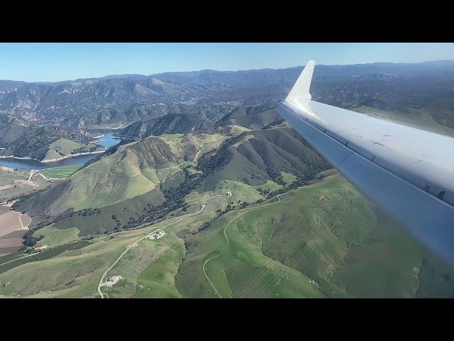 American Eagle CRJ-700 Landing at San Luis Obispo Airport | San Luis Obispo, CA