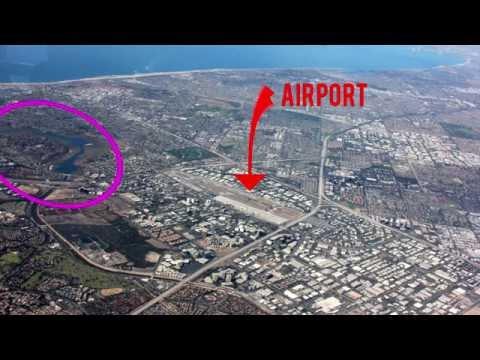 Watch us fly into John Wayne / Santa Ana Airport