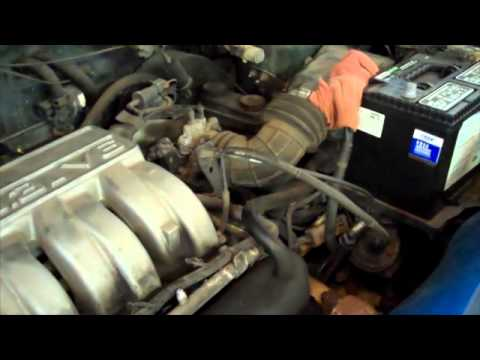 How to replace a fuel pressure regulator on a Dodge Caravan - YouTube