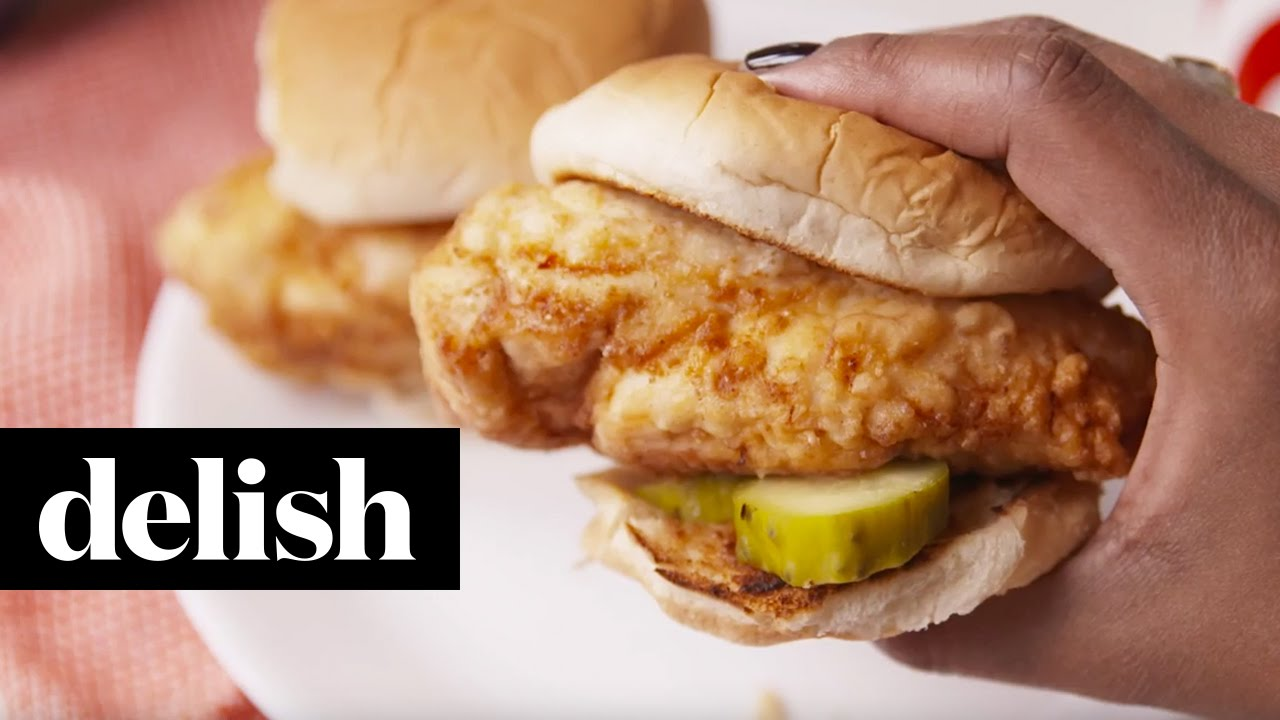 How to Copycat Chick-Fil-A Chicken Sandwich  Delish