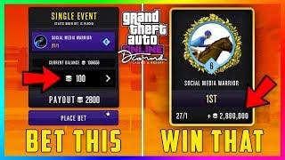 GTA 5 Online The Diamond Casino DLC Update - MONEY GLITCH! Horse Racing Minimum Bet With MAX Payout!