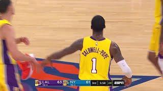 3rd Quarter, One Box Video: New York Knicks vs. Los Angeles Lakers