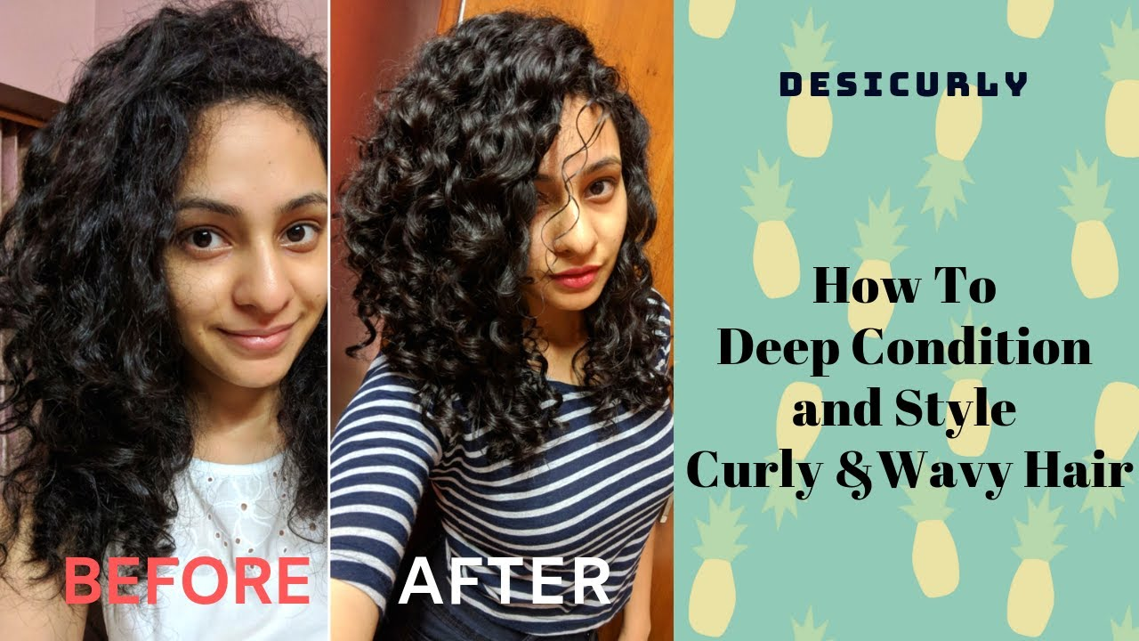 HOW TO: Deep Condition and Style Natural Curly & Wavy hair | Indian Curly Hair | DesiCurly
