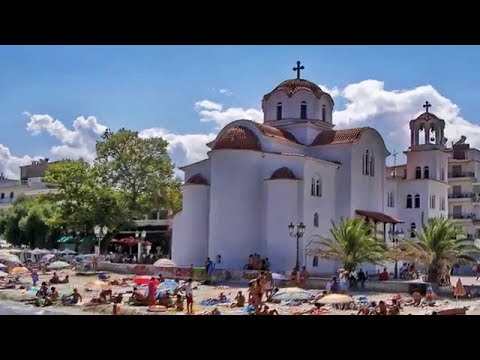 Katerini beach Pieria Video Τrip (ride on the main street in the late afternoon)