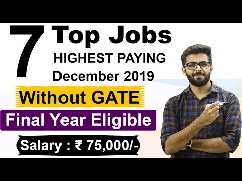 TOP 7 HIGHEST PAYING JOBS | December 2019 | Salary ₹76,000 | NO GATE | Final Year Eligible |
