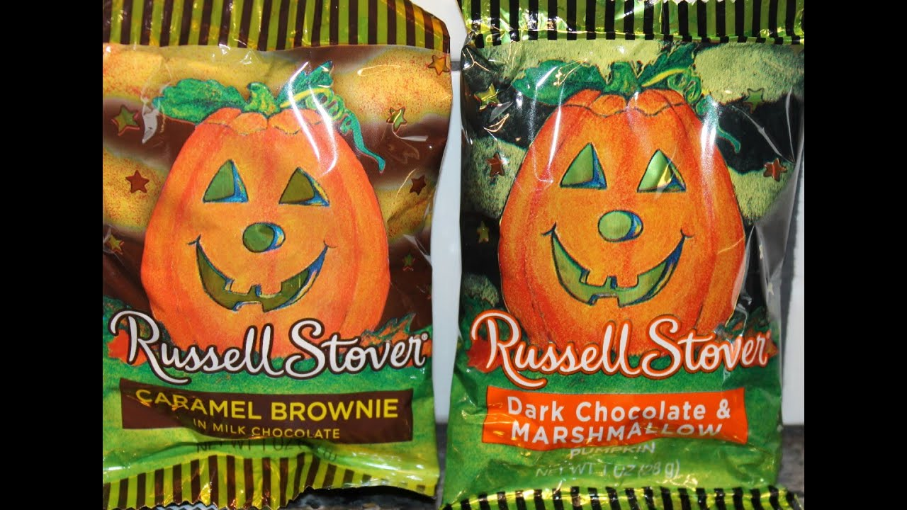 russell stover: caramel brownie and dark chocolate & marshmallow
