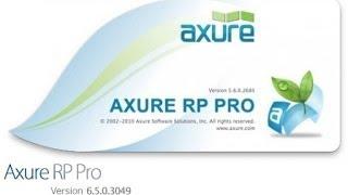 Урок по работе с Axure