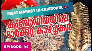 KERALA to SOUTH EAST ASIA HITCH HIKING // EP  44 // CAMBODIAN MEAT MARKET