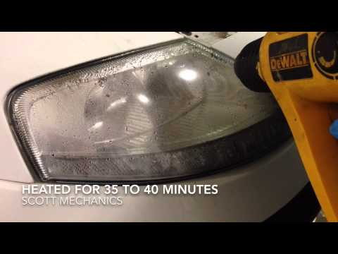 How to restore headlight removing the water