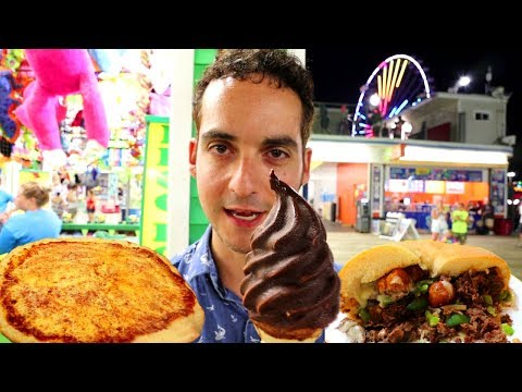 JERSEY SHORE BOARDWALK FOOD is INSANE ! 😱 (Seaside Heights, NJ)
