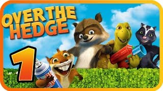 Over The Hedge Walkthrough Part 1 (PS2, GCN, XBOX, PC) Mission 1 & 2 [100% Objectives]