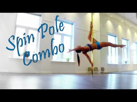 Spin Pole Dance Combo - Chopsticks - Invert - Jadesplit - Flatline Scorpio - Superman