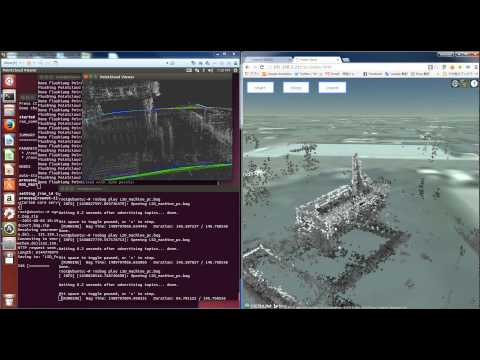 lsd-slam to cesium on realtime point cloud rendring