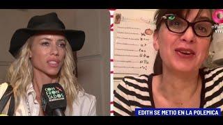Edith Hermida habla del apoyo de Pampita a Nicole Neumann