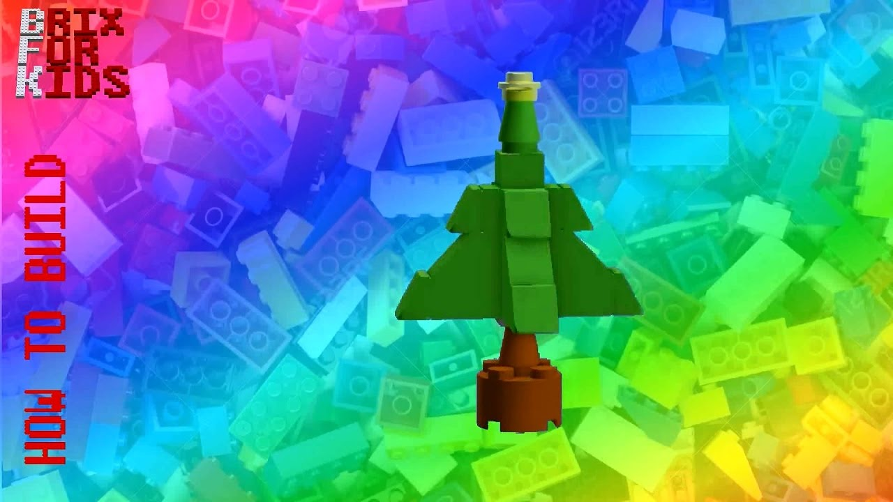 Lego Instructions How To Build A Simple Lego Christmas Tree