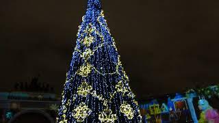 Санкт-Петербург,Дворцовая площадь,лазерное шоу,30.12.2017