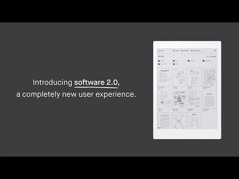 reMarkable 2.0 software update