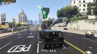 grand Theft Auto V on Dell Precision M6800 Overclocked Quadro K4100m 1080p