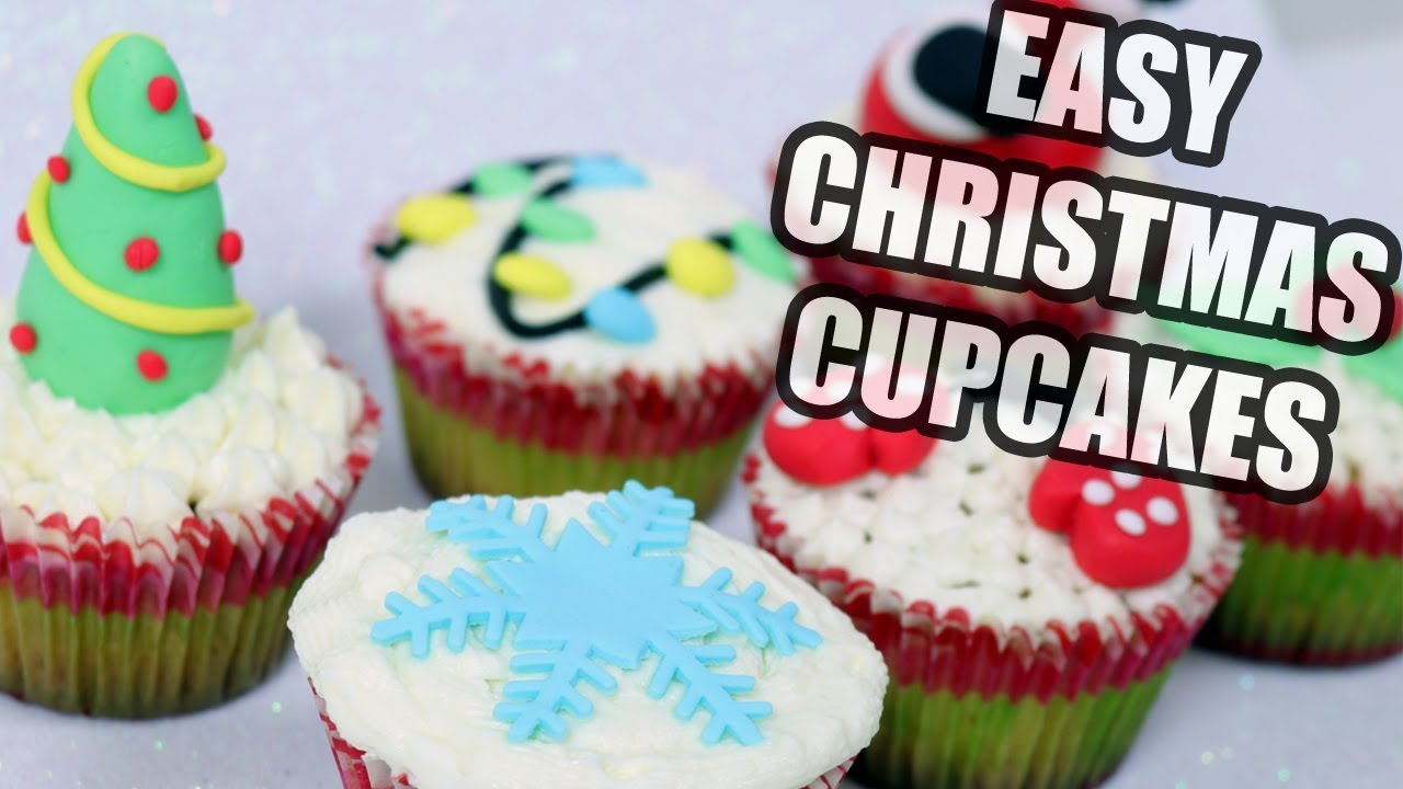 Easy Christmas Cupcakes Decorating Ideas.How To Make Easy Christmas Cupcakes Christmas Cake Decorating
