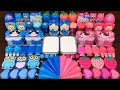 Relaxing With Piping Bag Pink Vs Blue Mixing Random Into Glossy Slime Satisfying Slime 1162