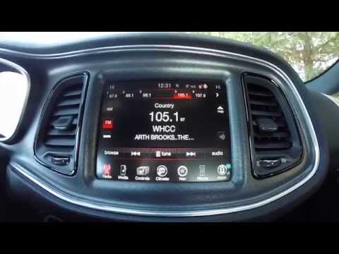 2015 Dodge Challenger UConnect® 8 4 Touchscreen Overview with Performance Pages|17768