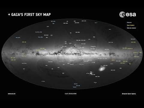 La prima mappa di Gaia della Via Lattea