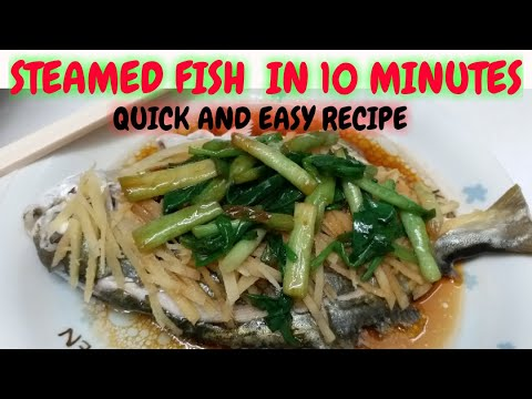 STEAMED POMPANO FISH - Quick&Easy Chinese Recipe |Hazel Cooking Vlog❤