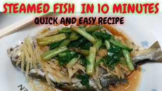 STEAMED POMPANO FISH - Quick&Easy Chinese Recipe