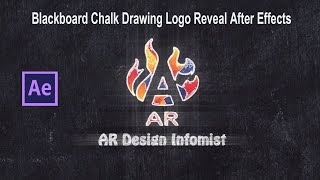 Blackboard Chalk Drawing Logo Reveal Intro After Effects 2020