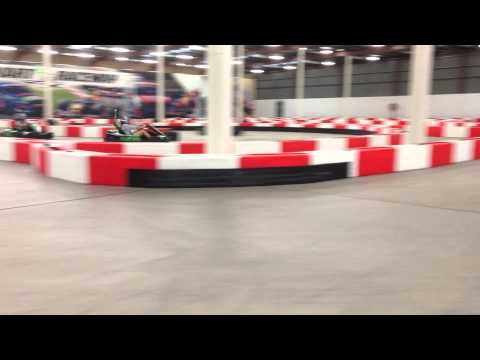 "Kart session testing at ""Power Kart Raceway"" Canberra."