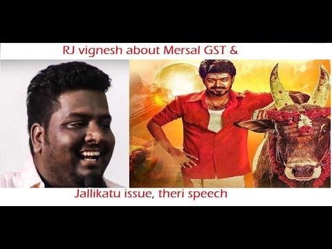 Mersal GST issue | Jallikatu issue  |english pesunalum tamizhan da Pattimandram- By RJ vignesh