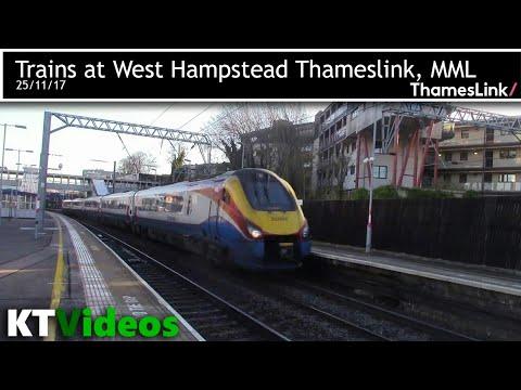 Trains at West Hampstead Thameslink, MML - 25/11/17