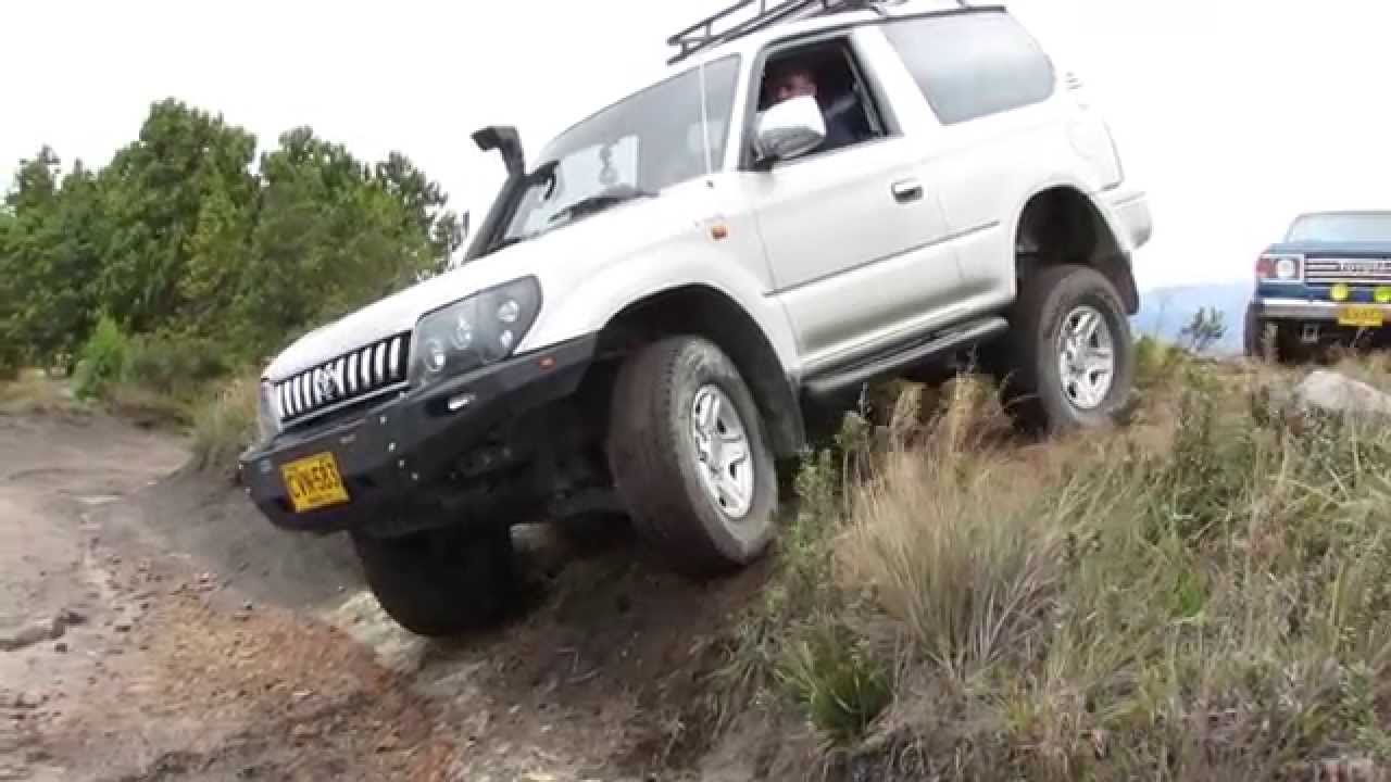 toyota prado 90 series viper bumper offroad 4x4 side crossing youtube. Black Bedroom Furniture Sets. Home Design Ideas