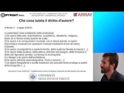 Parte 1 - Principi di base del diritto d'autore