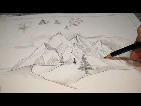 Come Disegnare Le Montagne Tutorial Youtube