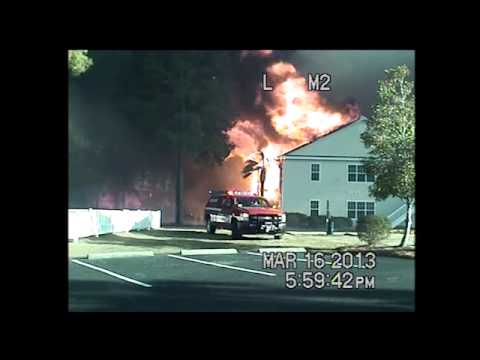 DASH CAM: Video of police responding to Windsor Green fire