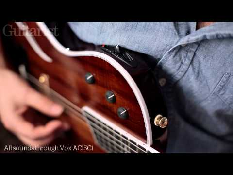 Taylor T5z Custom hybrid hollowbody guitar review demo