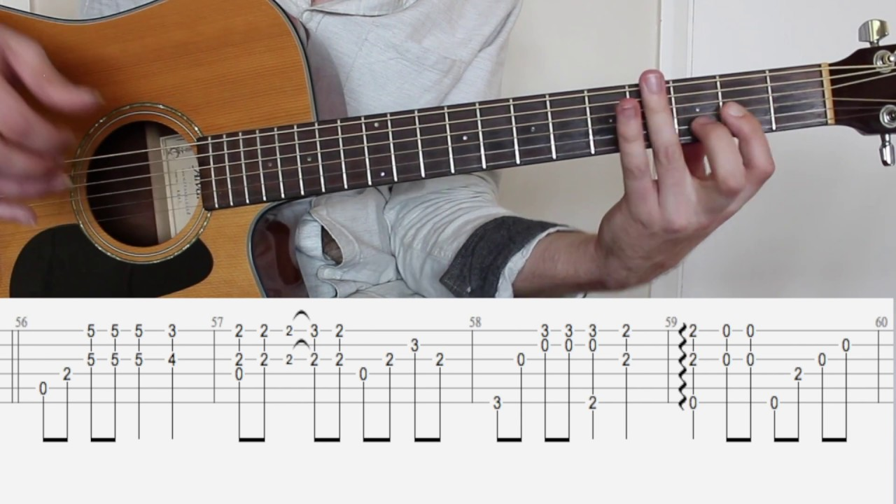 Shallow (Lady Gaga/Bradley Cooper) - Fingerstyle tutorial (guitar cover)  with tabs
