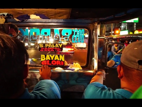 Philippines, jeep ride from SM City Fairview to SM City San Jose Del Monte @ night