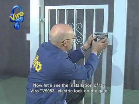 Pedestrian Gate With The Electric Lock Viro V9083 Youtube