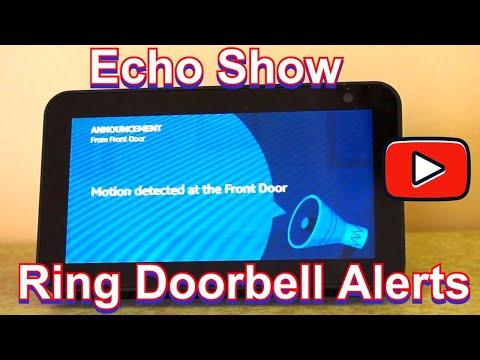 Echo Show Ring Doorbell alerts